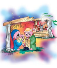 Storia-di-Natale,-l'asinello-del-presepe---la-natività