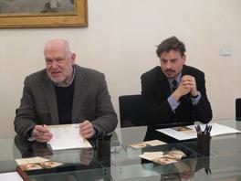Il presidente di Fondazione Carim Massimo Pasquinelli e il curatore della rassegna Alessandro Giovanardi