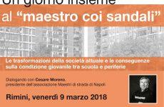 A Rimini arriva Cesare Moreno, Maestro Di Strada