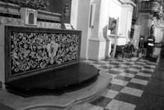 S. Agostino e l'altare restaurato