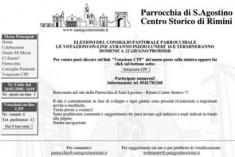 Voto on-line per il Consiglio. Pastorale di Sant'Agostino